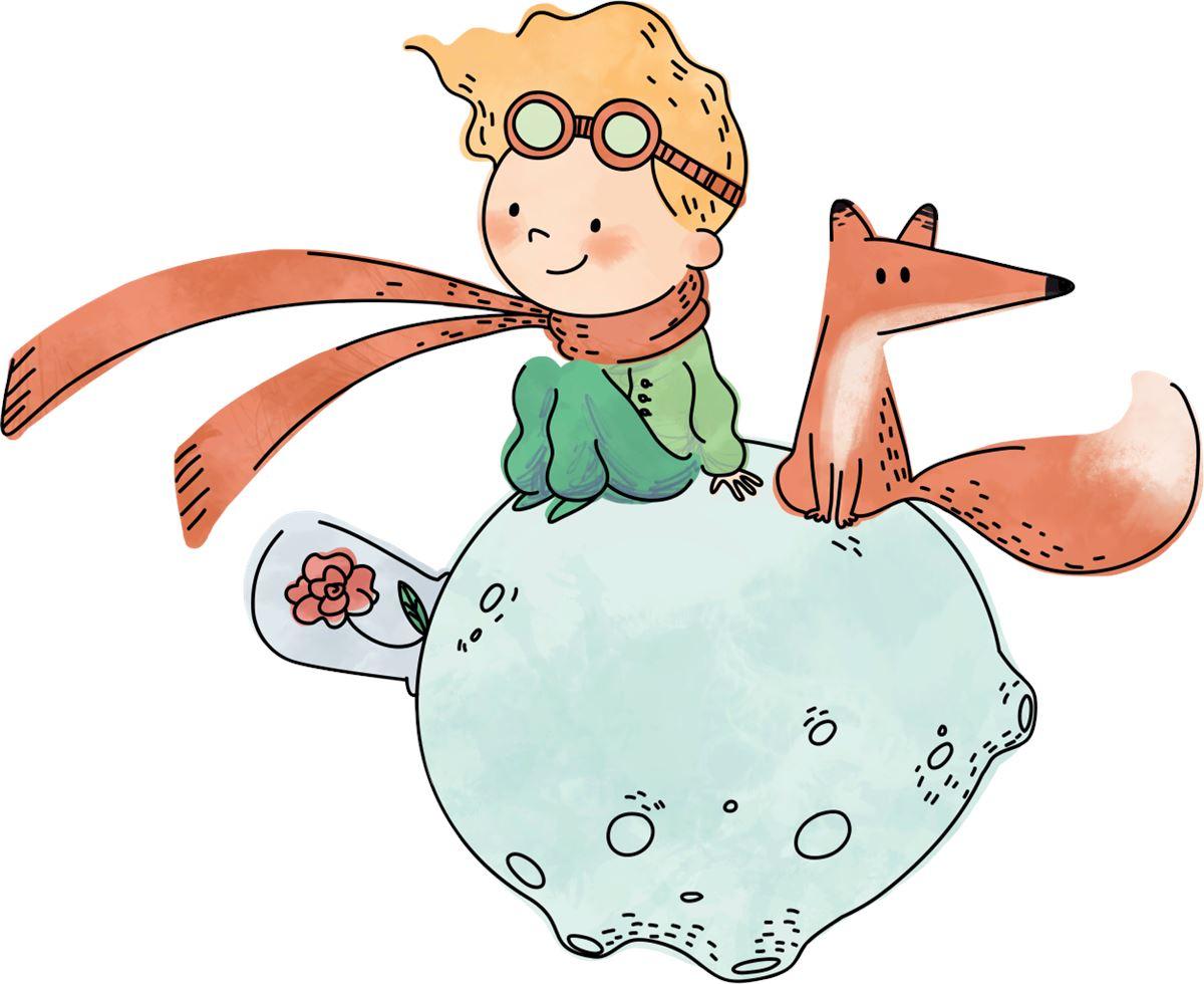 Top Adesivi Murali: Il piccolo principe e la Volpe | LeoStickers TO36